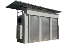 Heating cabinet with weather protection